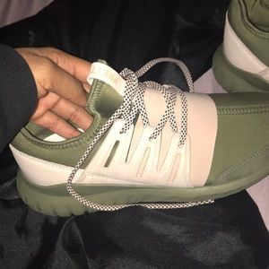 """Olive/Pink Adidas """"Pretty Girl"""" Shoes"""